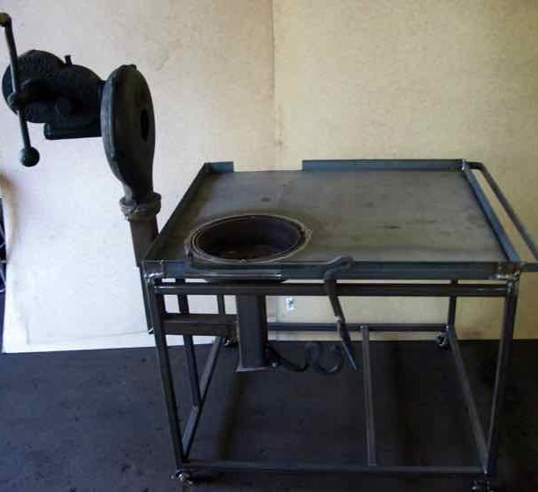 Outdoor Coal Forge with Blower